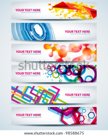 Abstract horizontal web banner. Vector illustration for you business website. - stock vector
