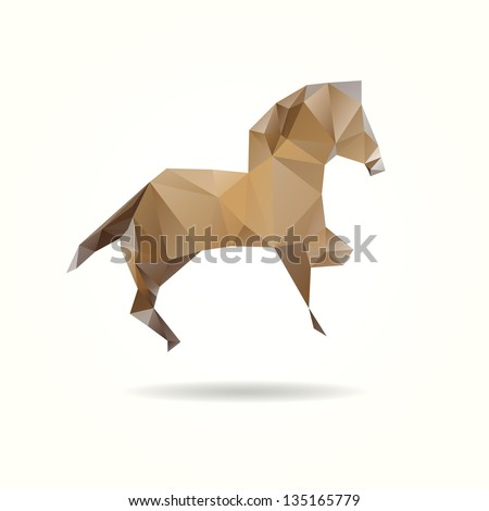 Abstract horse isolated on a white backgrounds - stock vector