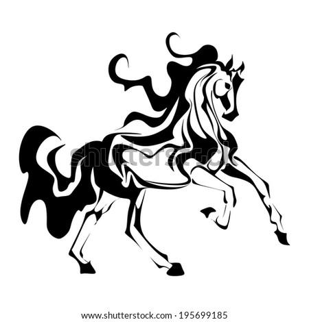 Abstract horse vector - stock vector