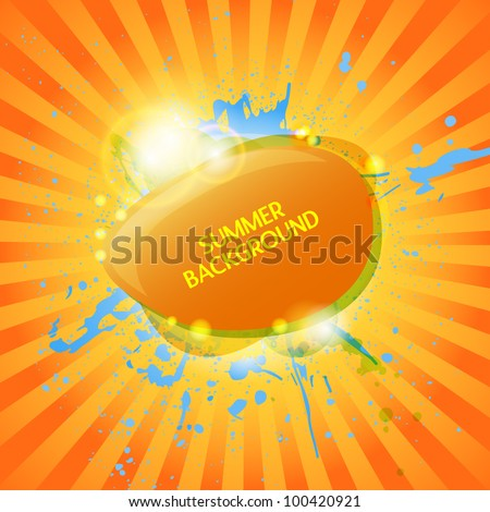 Abstract hot summer background - stock vector