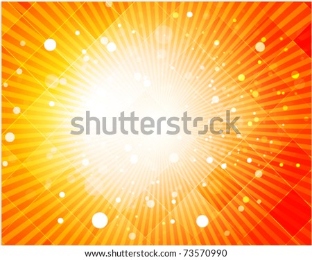 Abstract hot summer light background - stock vector
