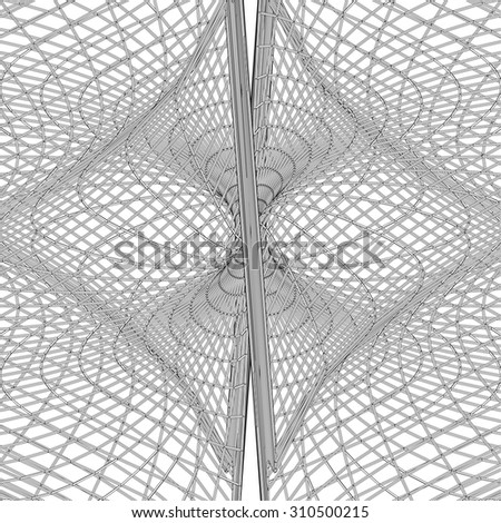 Abstract Hourglass Construction Structure Vector 400 - stock vector
