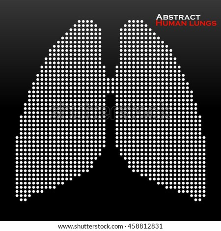 Abstract human lung from dots. Vector illustration. Eps 10