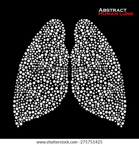 Abstract human lung. Vector illustration. Eps 10 - stock vector