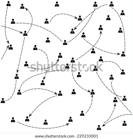 Abstract human model connection. Vector for you. - stock vector
