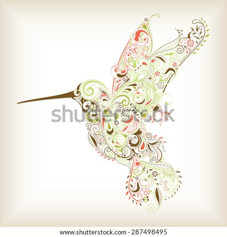 Abstract Hummingbird - stock vector