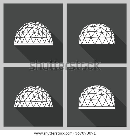 Abstract Icon Geodesic Dome Vector Flat Stock Photo (Photo, Vector ...