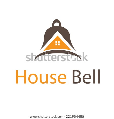 Abstract icon house in bell. Vector - stock vector