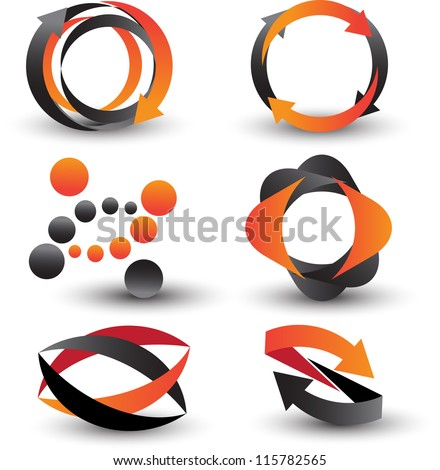 abstract icon set - stock vector