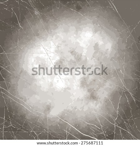 Abstract illustrated burnt paper & cardboard texture. Sepia toned, many scratches. - stock vector