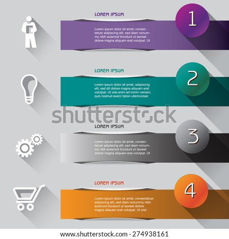 Abstract illustrated Infographic  - stock vector