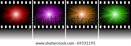 Abstract illustration. An abstract background on photo-slide - stock vector