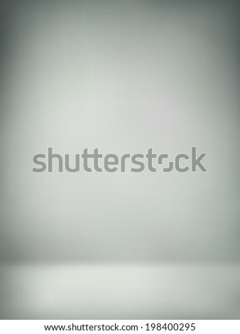 abstract illustration background texture of light gray wall, flat floor in empty room. - stock vector