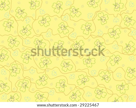 abstract illustration background with clover - stock vector