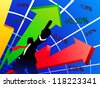 Abstract illustration describing the conquest of the stock markets - stock photo