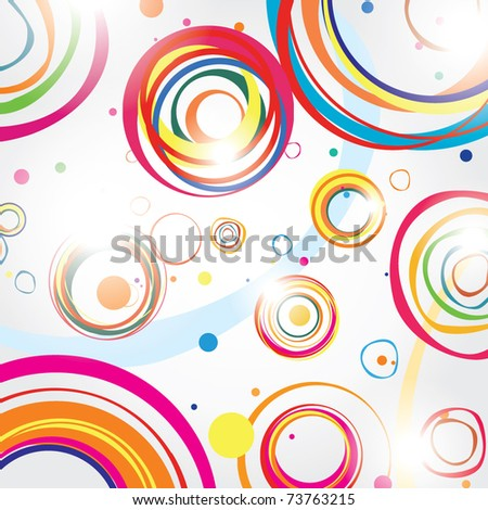Abstract illustration for a good mood - stock vector