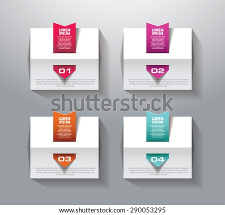 Abstract  illustration Infographic. number options - stock vector