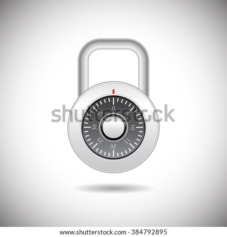 Abstract illustration - metal padlock with password