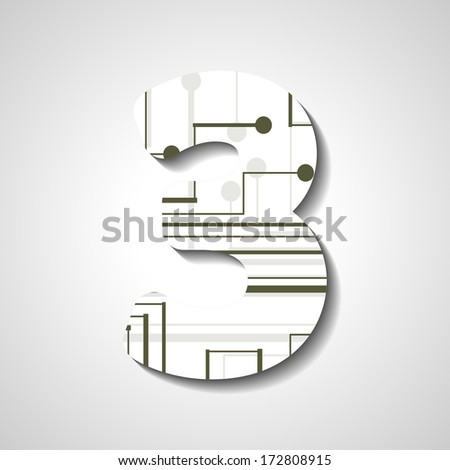 abstract  illustration, number collection - 3