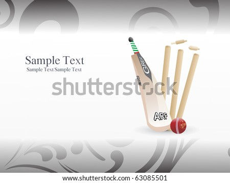 abstract illustration of cricket background - stock vector