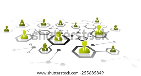 Abstract illustration of professional business network grid - stock vector