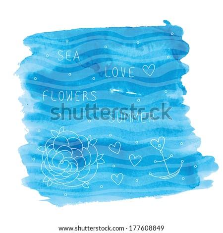 abstract illustration of summer sea. vector illustration. eps 10 - stock vector