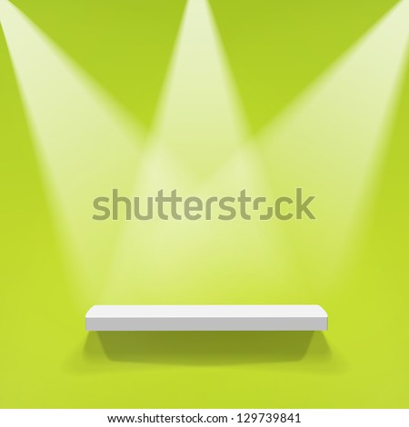 Abstract illustration of three spotlights - stock vector
