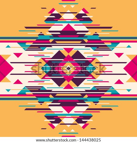 Abstract illustration with angular shapes. Vector illustration. - stock vector