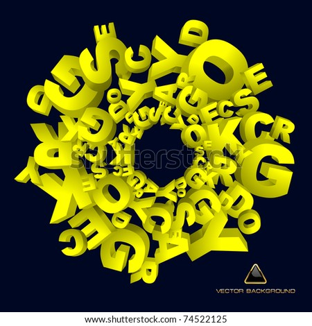 Abstract illustration with letter mix.