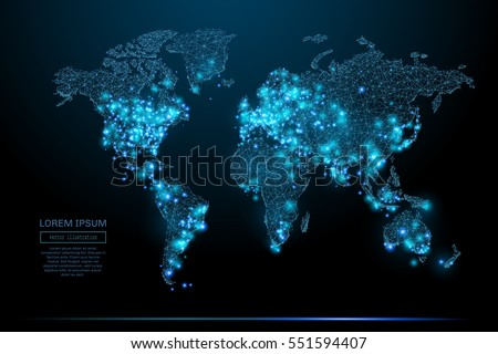Abstract image world map form starry stock vector 2018 551594407 abstract image of a world map in the form of a starry sky or space gumiabroncs Image collections