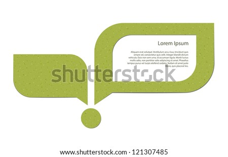 Abstract image of a young sprout and a speech bubble with a placeholder. EPS10 vector. - stock vector