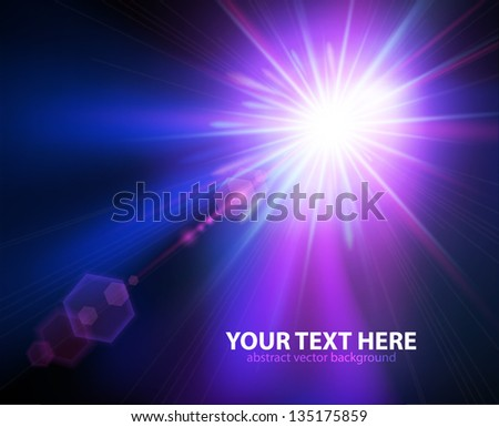 Abstract image of concert lighting against a dark background - stock vector
