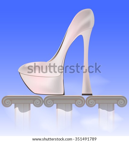 abstract image of female - stock vector