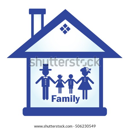 Abstract image of the family in the house