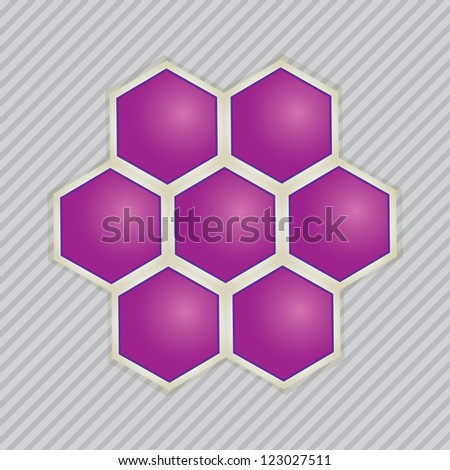Abstract images of molecular structures .vector - stock vector
