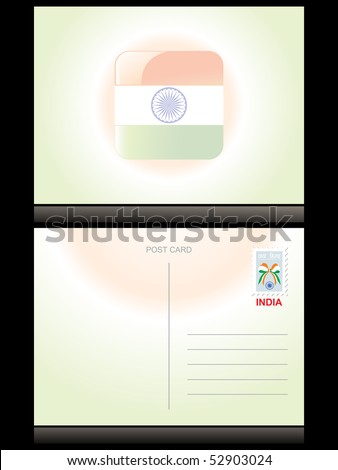 abstract independence day background with postcard - stock vector