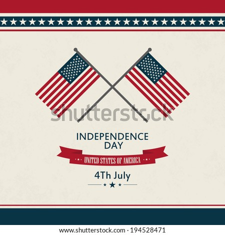 abstract independence day background with special objects - stock vector