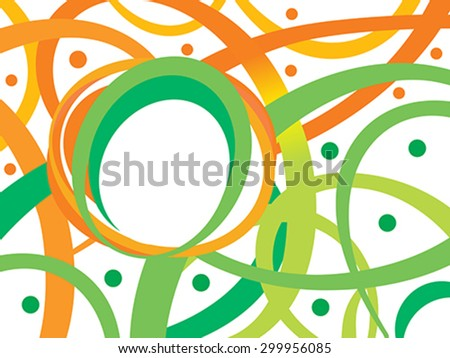 abstract indian flag theme background vector illustration - stock vector