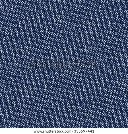 Abstract indigo melange flecked texture. Seamless pattern. - stock vector