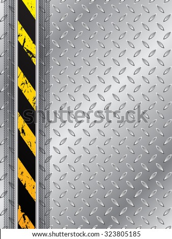 Abstract industrial background design with tire track and striped bar - stock vector