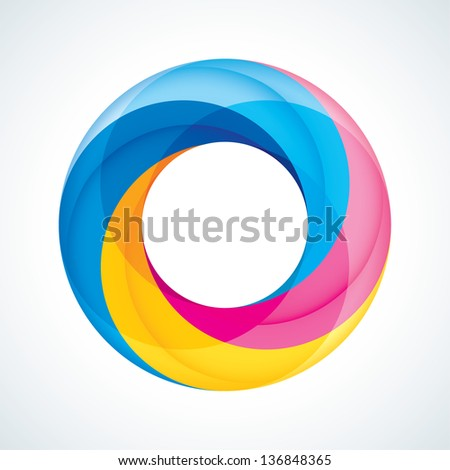 Abstract Infinite loop logo template. Corporate icon. 4 Pieces Shape - stock vector