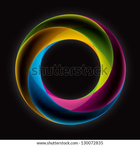 Abstract Infinite loop logo template. Corporate icon. 5 Pieces Shape. EPS10 - stock vector
