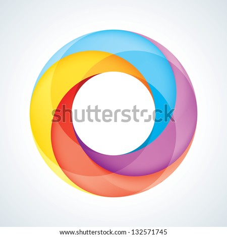 Abstract Infinite Loop Logo Template. Corporate Icon. 4 Pieces Shape. EPS10 - stock vector