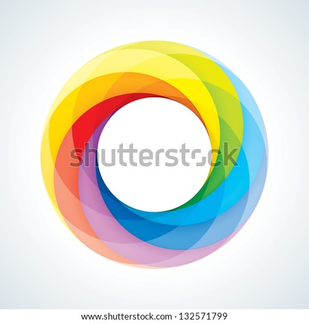 Abstract Infinite Loop Logo Template. Corporate Icon. 7 Pieces Shape. EPS10 - stock vector