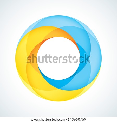 Abstract Infinite Loop Sign Logo Template. Corporate Icon. 2 Pieces Shape. EPS10 - stock vector