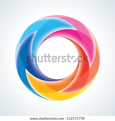 Abstract Infinite Loop Sign Template. Corporate Icon. 5 Pieces Arrow Shape. EPS10 - stock vector