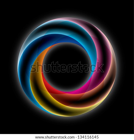 Abstract Infinite Loop Sign Template. Corporate Icon. 5 Pieces Shape - stock vector