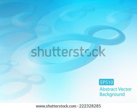 abstract Infinity signs moving through time background, vector graphic design, stylish concept eps10. Plenty of copy space - stock vector