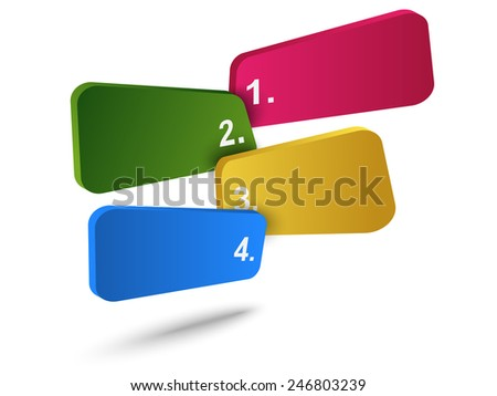 Abstract info-graphics with four choices - stock vector