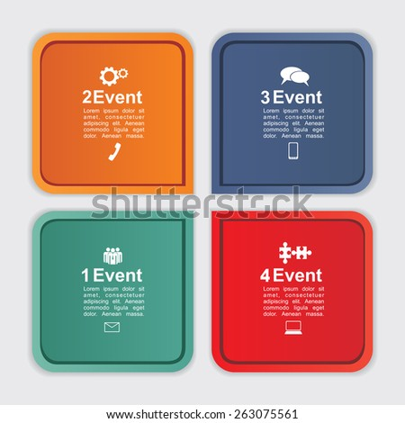 Abstract infographic. Can be used for workflow layout. Vector illustration Eps8. - stock vector